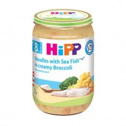 hipp-ushqim-për-femijë-me-pasta-me-peshk-deti-në-brokul-kremoza-për-8-muajsh-220g