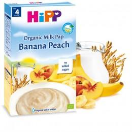 hipp-ushqim-griza-e-parë-e-foshnjës-pure-organike-qumështi-banana-pjeshkë-prej-muajit-4-250g